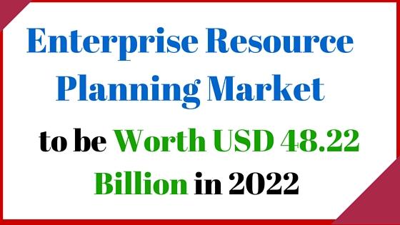 Enterprise Resource Planning Market to be Worth USD 48.22 Billion in 2022