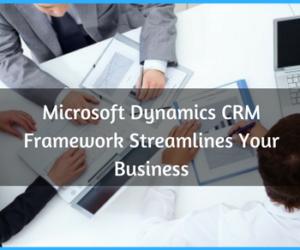 Streamline Your Business With Microsoft Dynamics CRM Framework